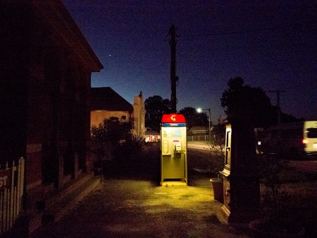 Chewton: Telstra phone booth